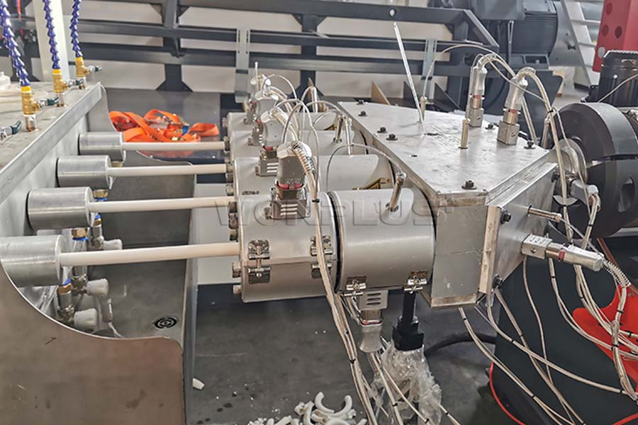 Four Cavity PVC Conduit Pipe Extrusion Line Commissioning Succeed